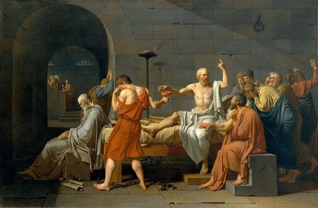 Death of Socrates, Jacques Louis David