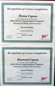 Driving certificates