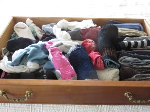 Sock drawer before