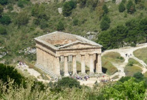 The unfinished temple at Segesta