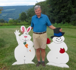 At the last minute, Ray pulled Bunrab and Mr. Sneggles, his creations, out of the sale